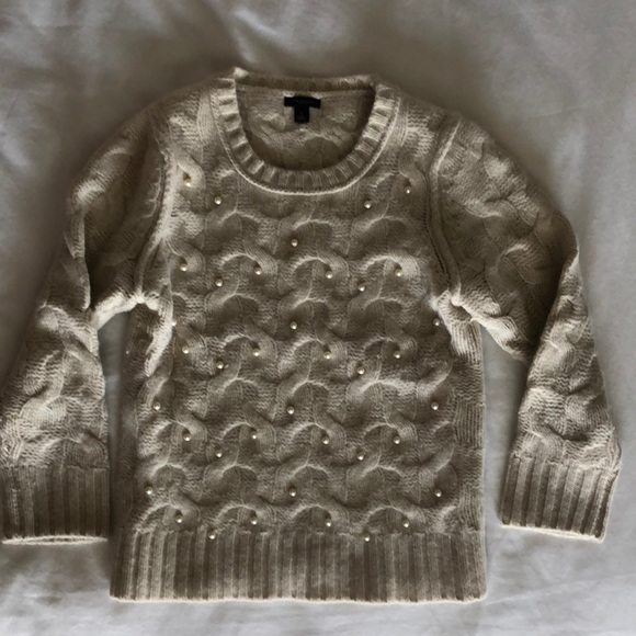 Ann Taylor Sweaters - Ann Taylor Wool Sweater with Pearls